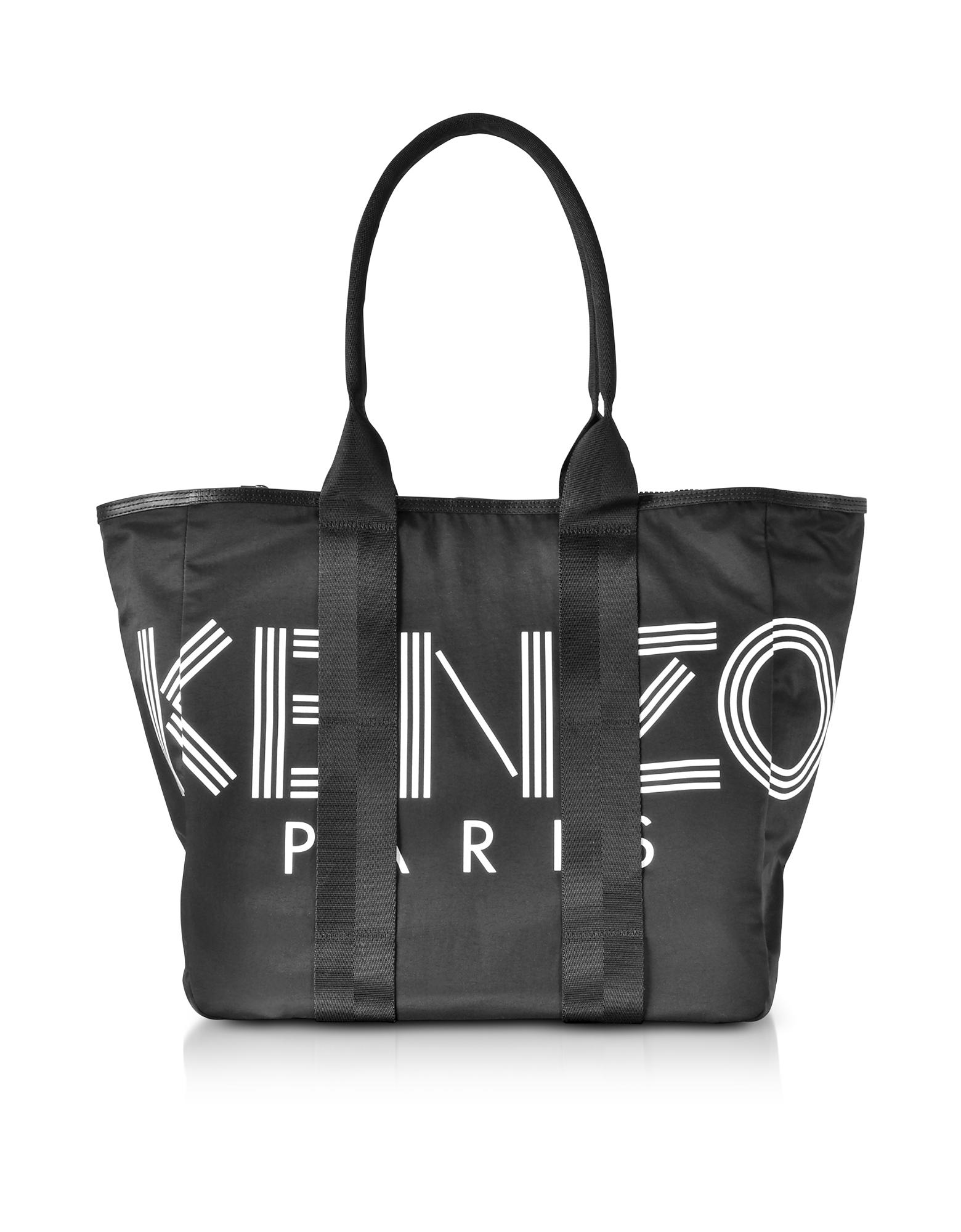 Kenzo Sport Black Nylon Tote Bag