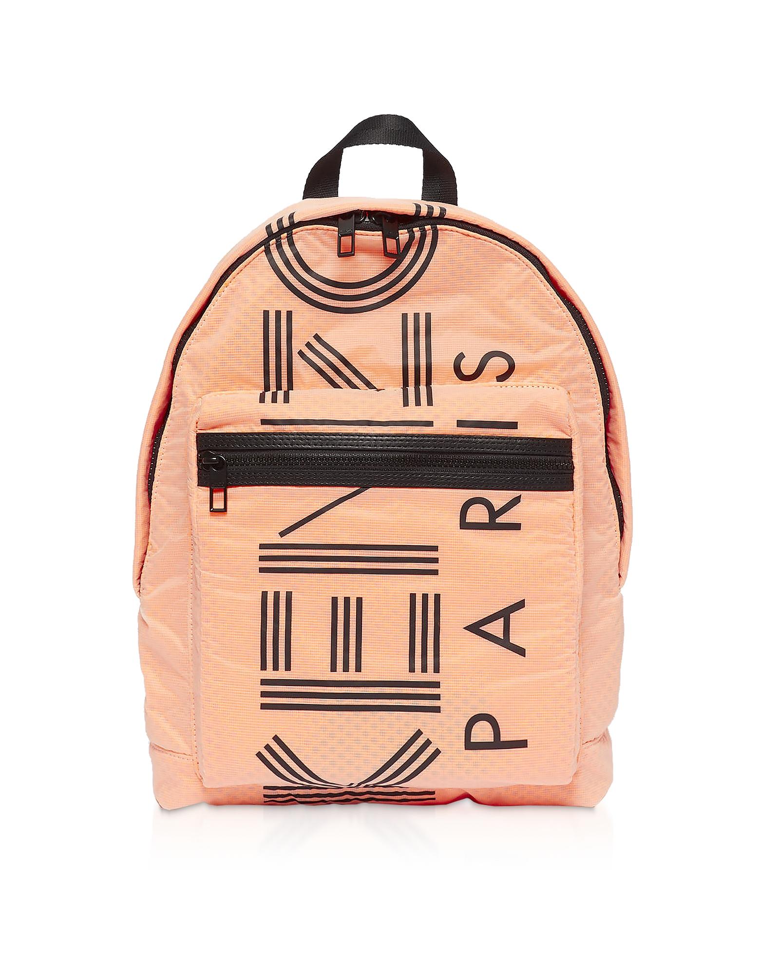 Sport Logo Print Nylon Backpack