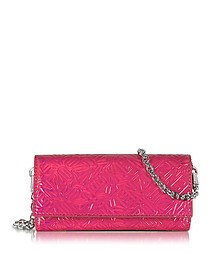 Pink Metallic Leather Wallet on Chain - Kenzo