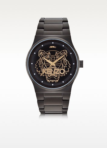 Black and Gold Tiger Watch - Kenzo