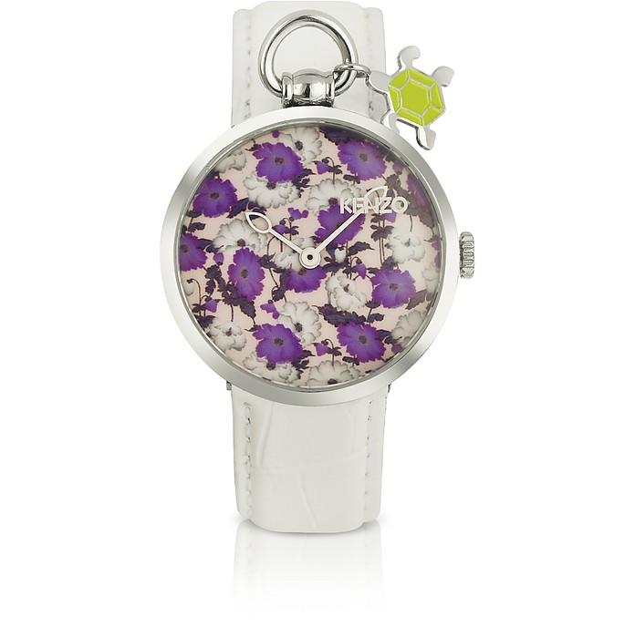 Kenzomania - Women's Croco Stamped Leather Charm Watch  - Kenzo