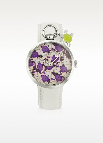 Kenzomania - Women's Croco Stamped Leather Charm Watch  - Kenzo