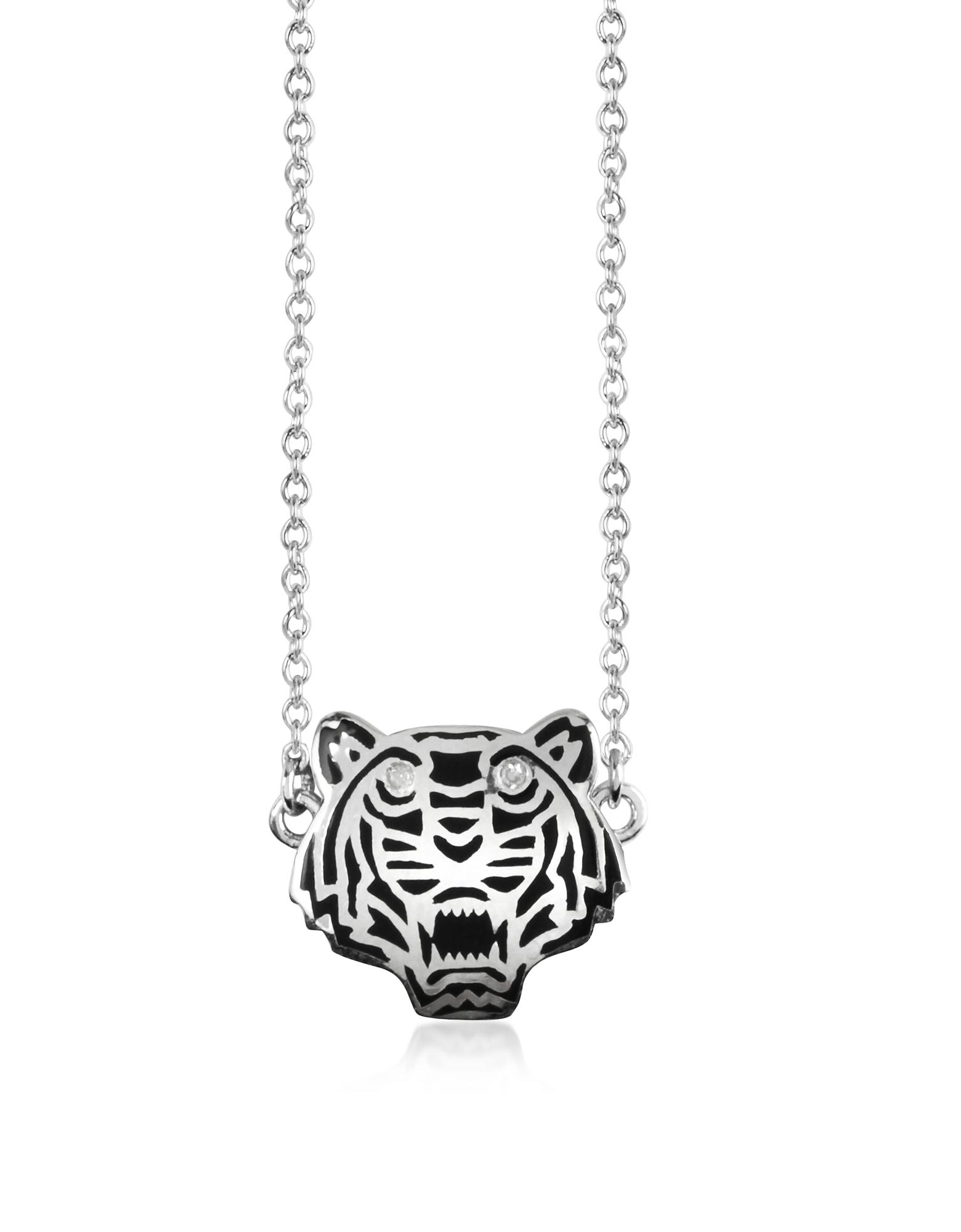 Mini Tiger - Ожерелье из Серебра 925 пробы с Маленьким Тигром