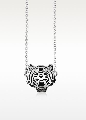 Sterling Silver Solid Mini Tiger Necklace - Kenzo