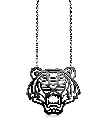 Kenzo - Sterling Silver Cut Out Tiger Necklace