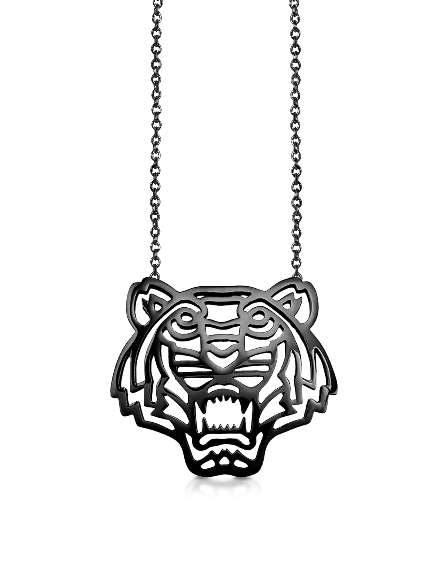 Kenzo Necklaces, Sterling Silver Cut Out Tiger Necklace