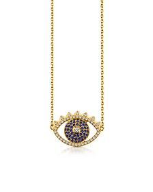 Golden Sterling Silver Eye Necklace - Kenzo