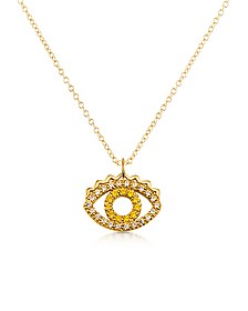 Golden Sterling Silver Mini Eye Necklace - Kenzo