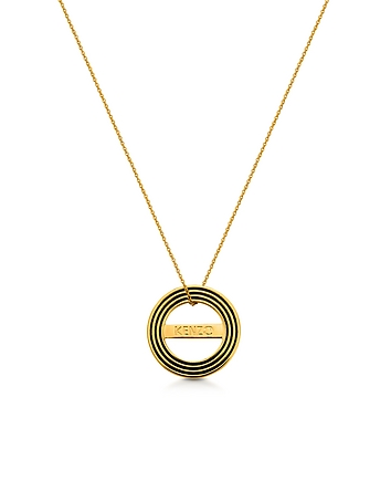 Kenzo - Goldtone Reversible Logo Necklace