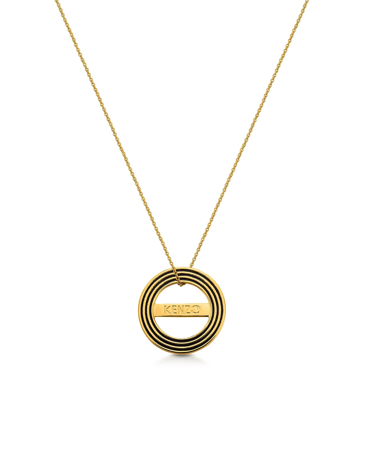 Золотистое Двухстороннее Ожерелье с Логотипом