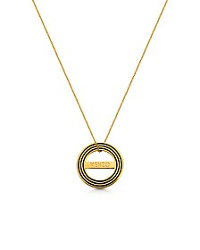 Goldtone Reversible Logo Necklace - Kenzo