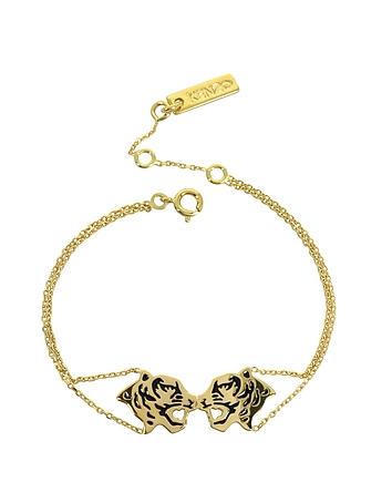 Kenzo - Gold Plated Tassel Tiger Bracelet