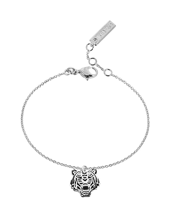 Kenzo - Black Lacquer Sterling Silver Mini Tiger Bracelet
