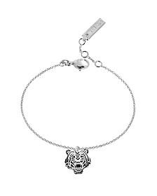 Black Lacquer Sterling Silver Mini Tiger Bracelet - Kenzo
