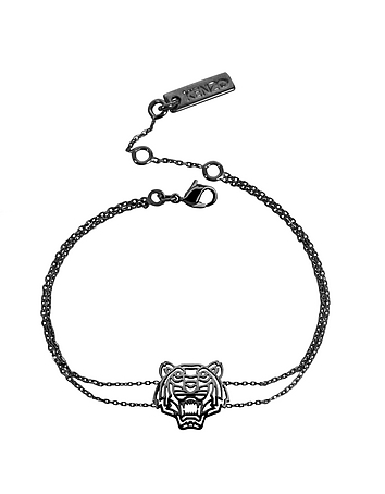 Kenzo - Ruthenium Plated Sterling Silver Cut Out Tiger Bracelet