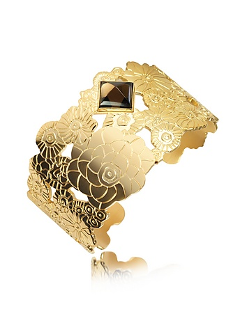 Kenzo Vermeil Collection Daphnis Gold Plated Cuff Bracelet