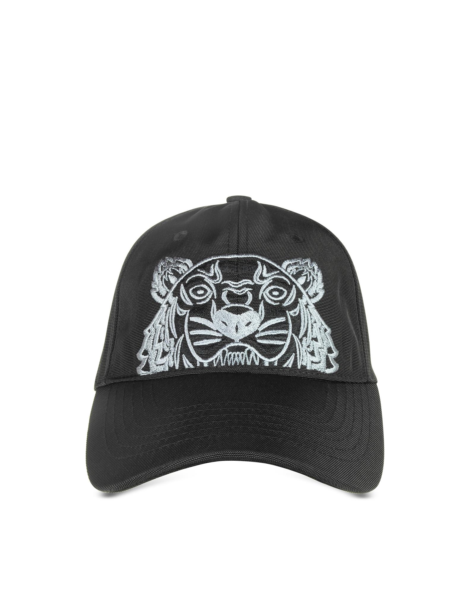 Kenzo Men's Hats, Black Canvas Tiger Baseball Cap
