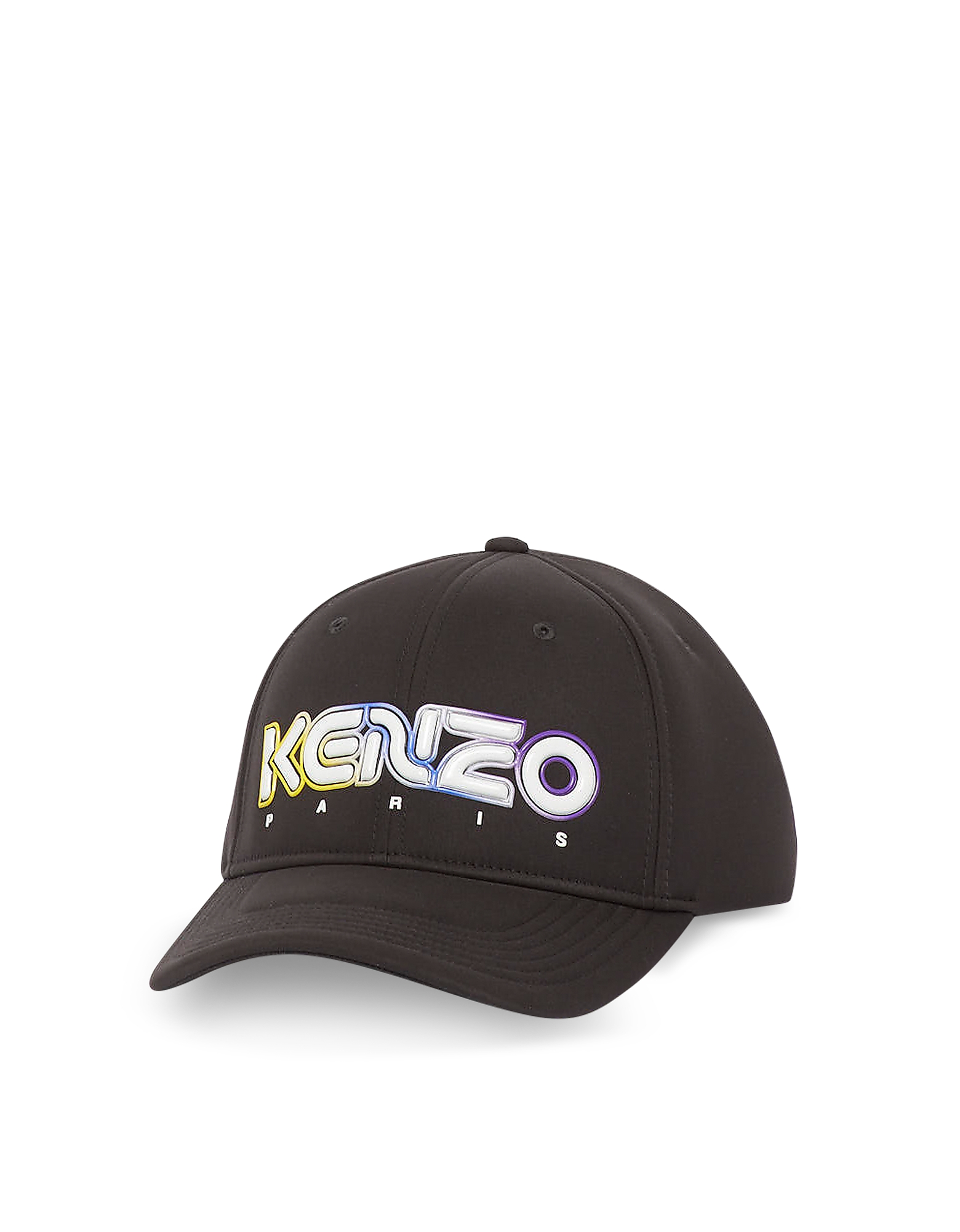 Kenzo Designer Women's Hats, Black Cotton Kombo Neoprene Baseball Cap
