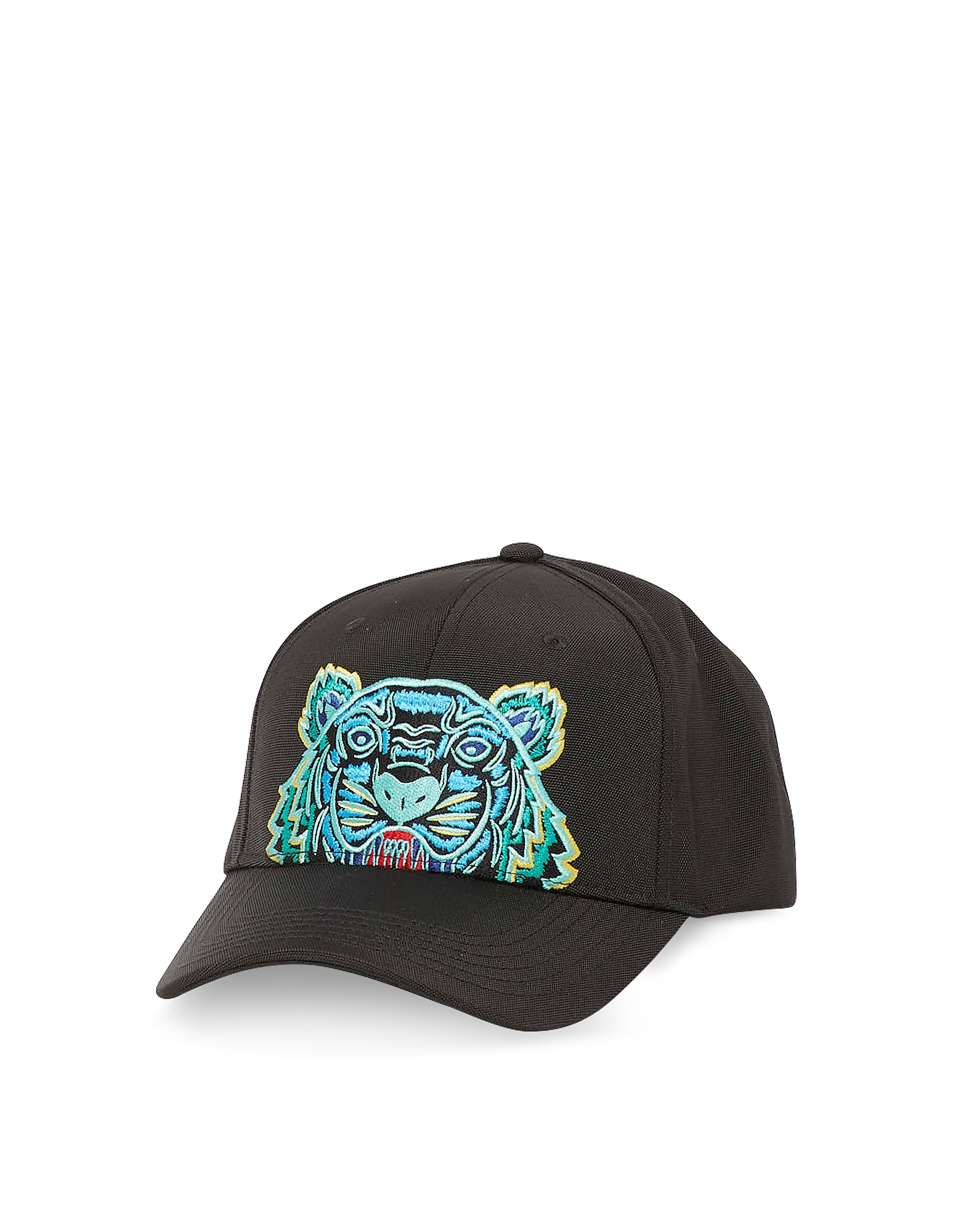 Kenzo Designer Men's Hats, Black Kanvas Tiger Baseball Cap