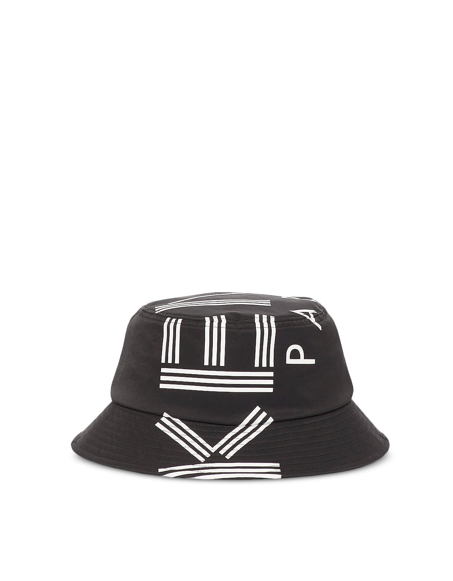 Nylon Sport Logo Rain Hat, Black