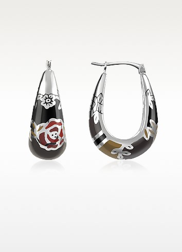 Fedora - Sterling Silver Earrings - Kenzo