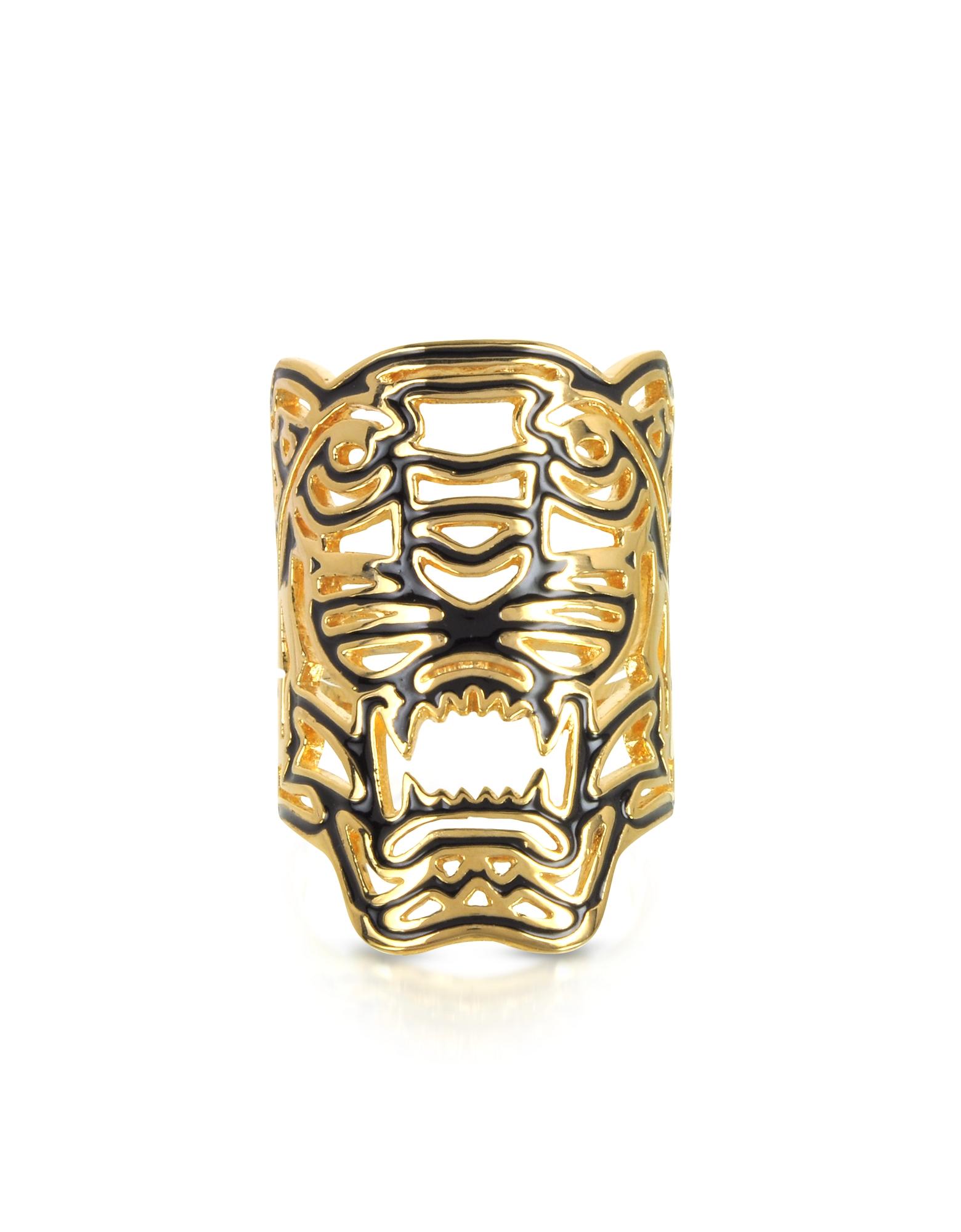 Maxi Tiger - Позолоченное Кольцо с Тигром