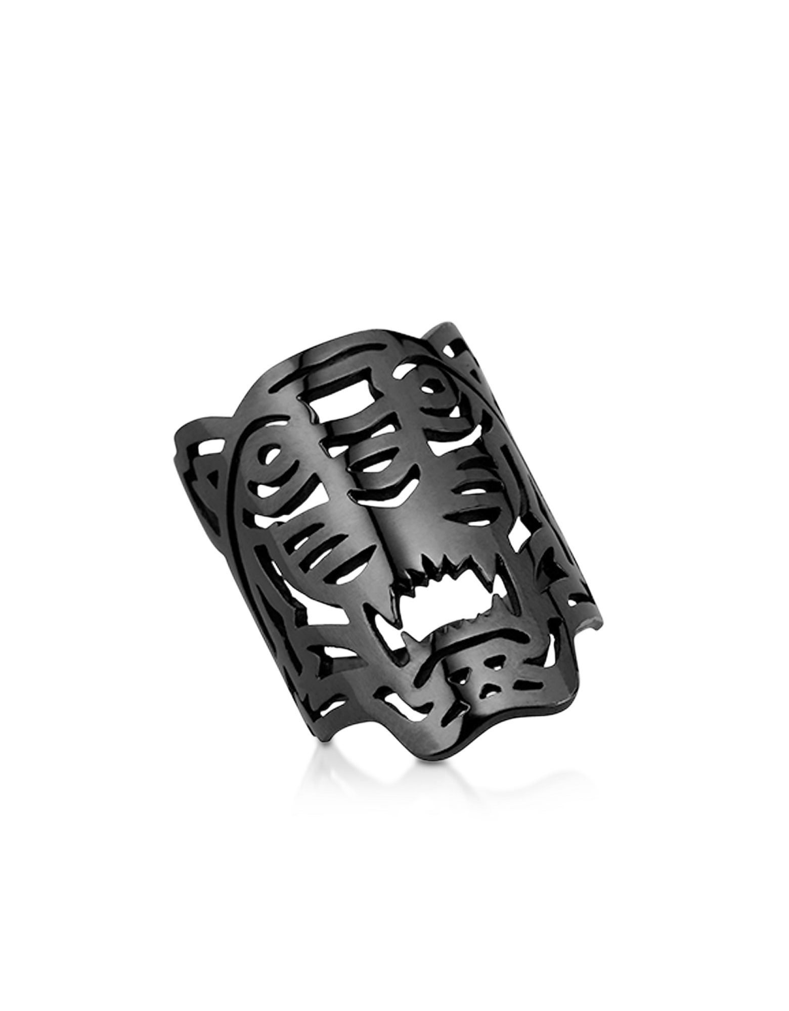 Kenzo Rings, Ruthenium Plated Sterling Oversized Tiger Ring
