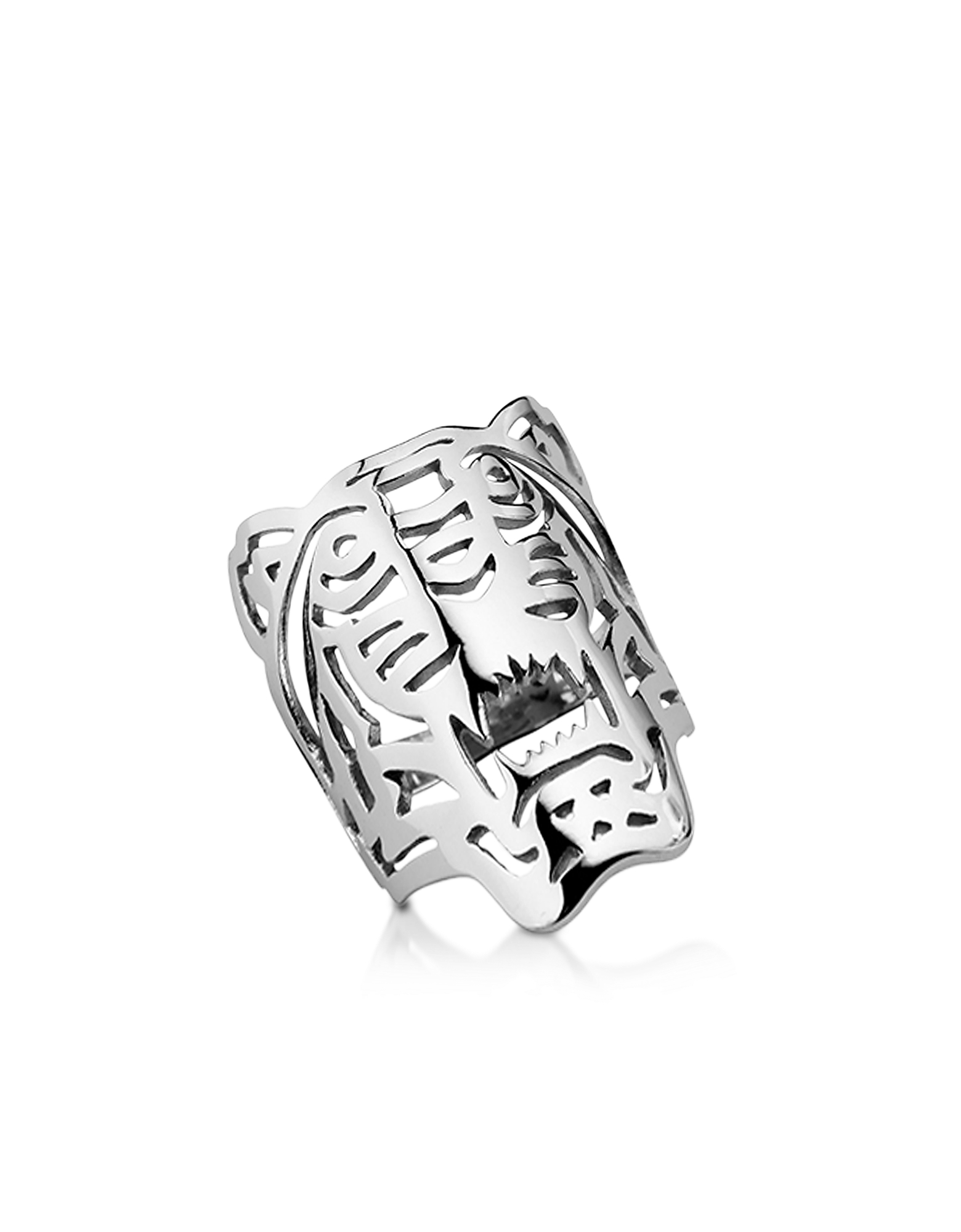 Kenzo Rings, Sterling Silver Oversized Tiger Ring