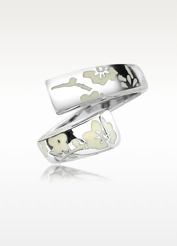 Kyoto - Ivory Flower Sterling Silver Ring - Kenzo