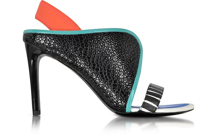 Color Block Leather w/Neoprene Sandal - Kenzo