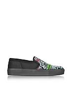 Kenzo Flyer Tiger Sneakers Slip On in Tessuto Nero - kenzo - it.forzieri.com