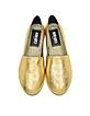 Gold Laminated Leather Tiger Espadrilles - Kenzo
