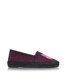 Neon Pink Canvas Mix Tiger Espadrilles - Kenzo