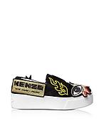 Kenzo Sneaker K-Patch Slip-on in Canvas Nero - kenzo - it.forzieri.com