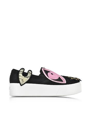 Kenzo - K-Patch Slip-on Platform Sneakers