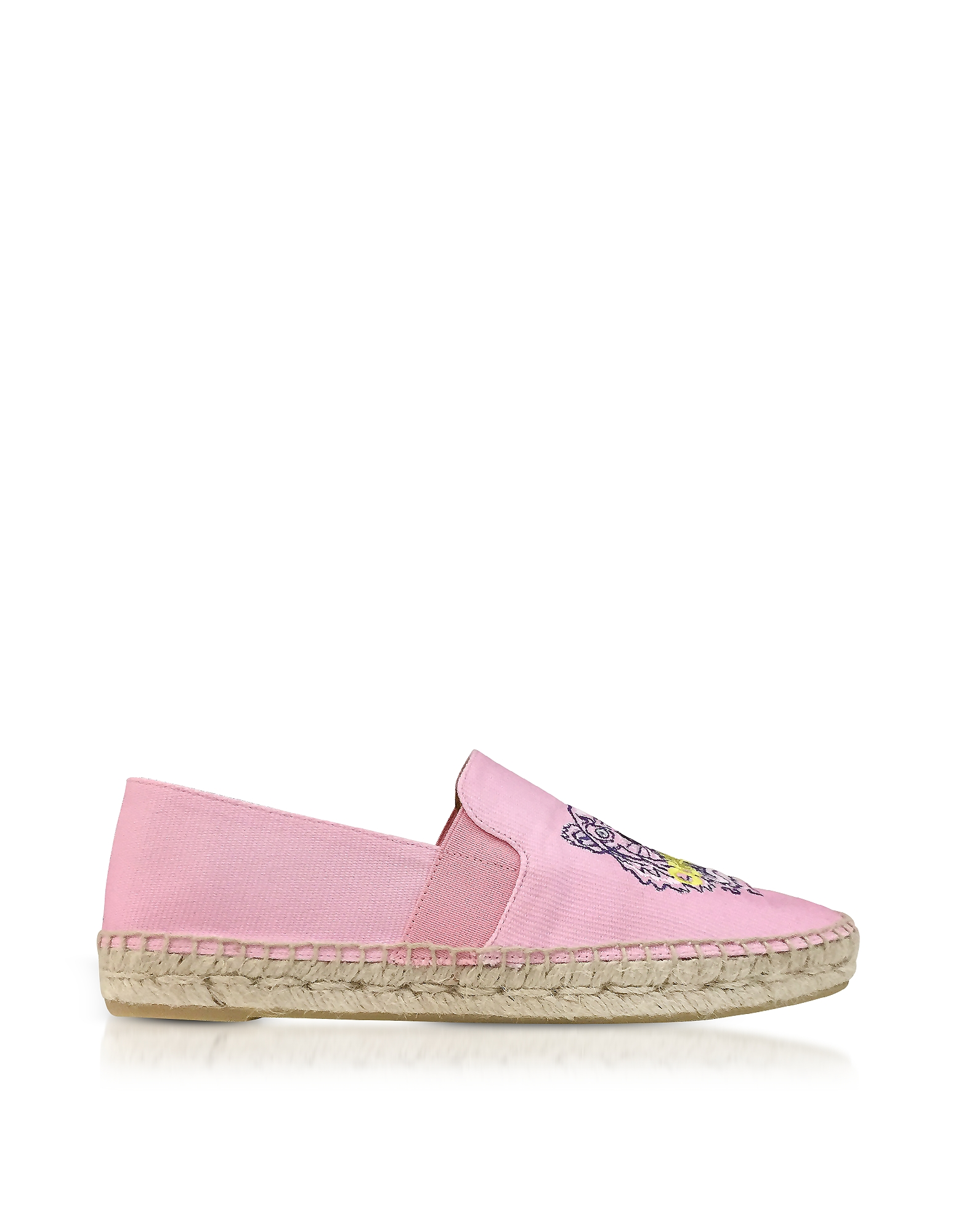 Kenzo Shoes, Flamingo Pink Canvas Women's Tiger Espadrilles