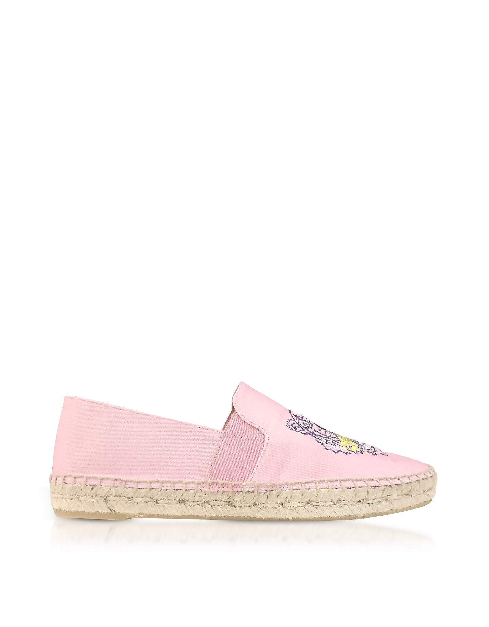 Kenzo Shoes, Flamingo Pink Canvas Women's Tiger Espadrilles
