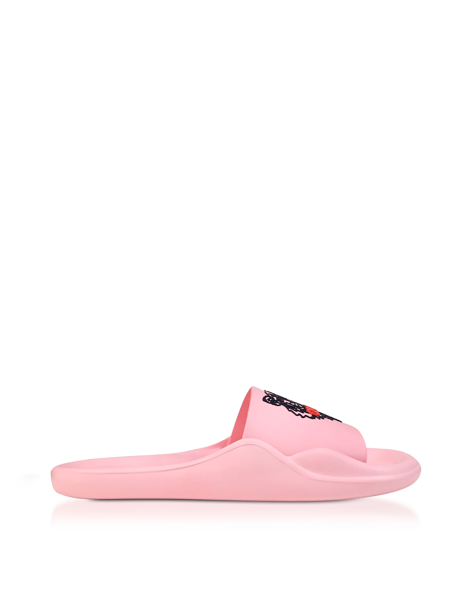 Kenzo Shoes, Flamingo Pink Women's Pool Sandals w/Tiger Logo