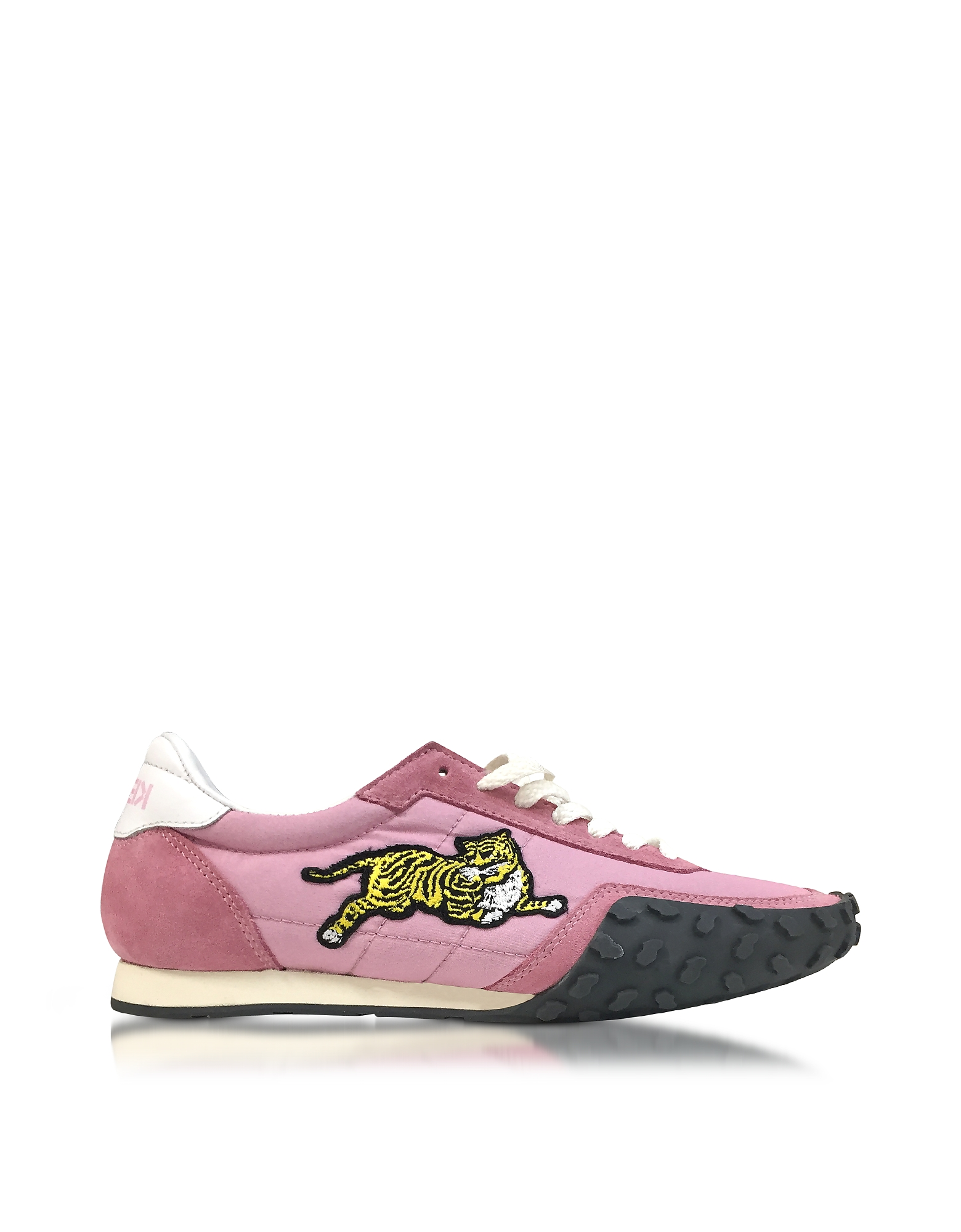 Kenzo Shoes, Flamingo Pink Nylon and Suede Kenzo Move Women's Sneakers