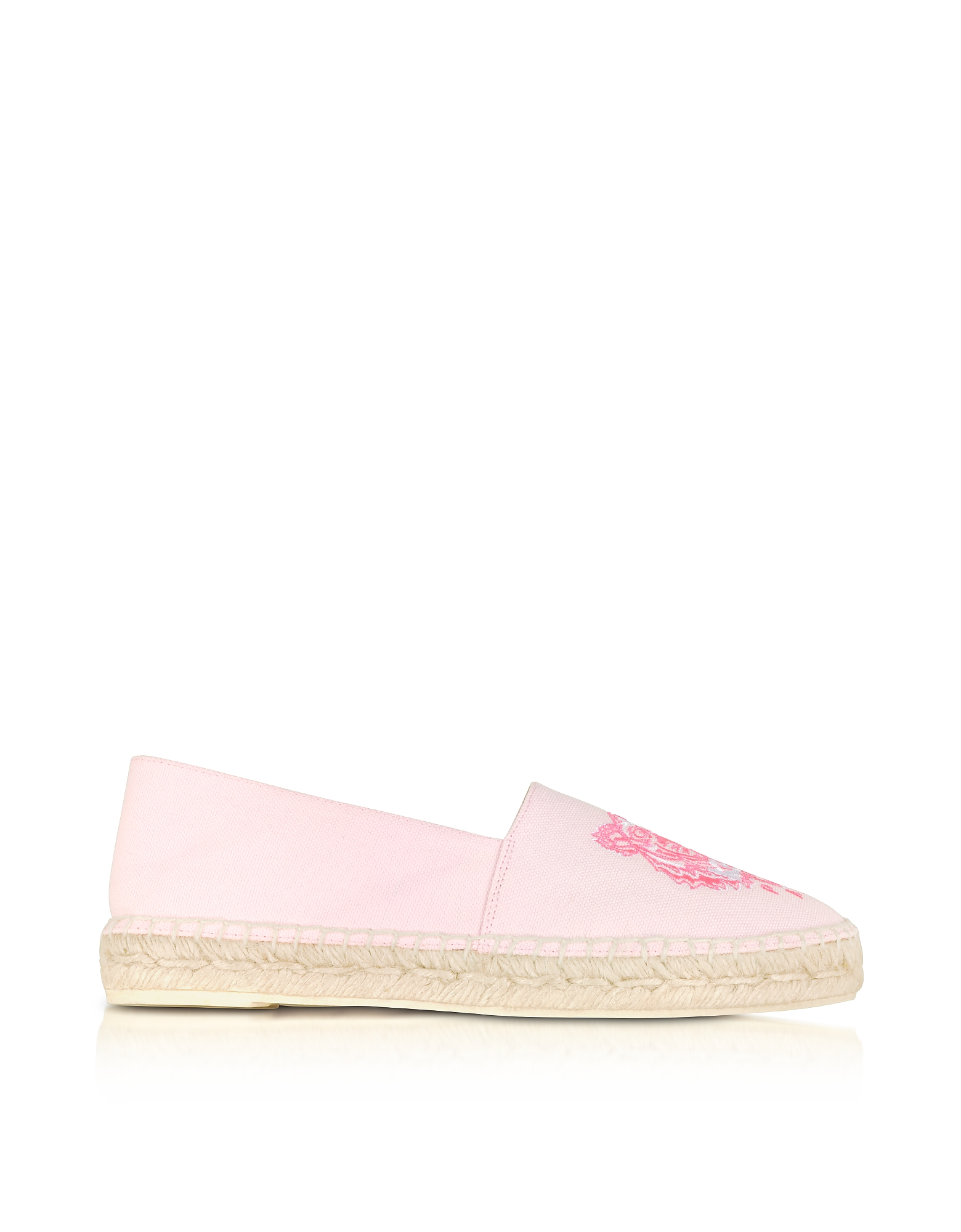 Kenzo Shoes, Pastel Pink Canvas and Jute Espadrilles