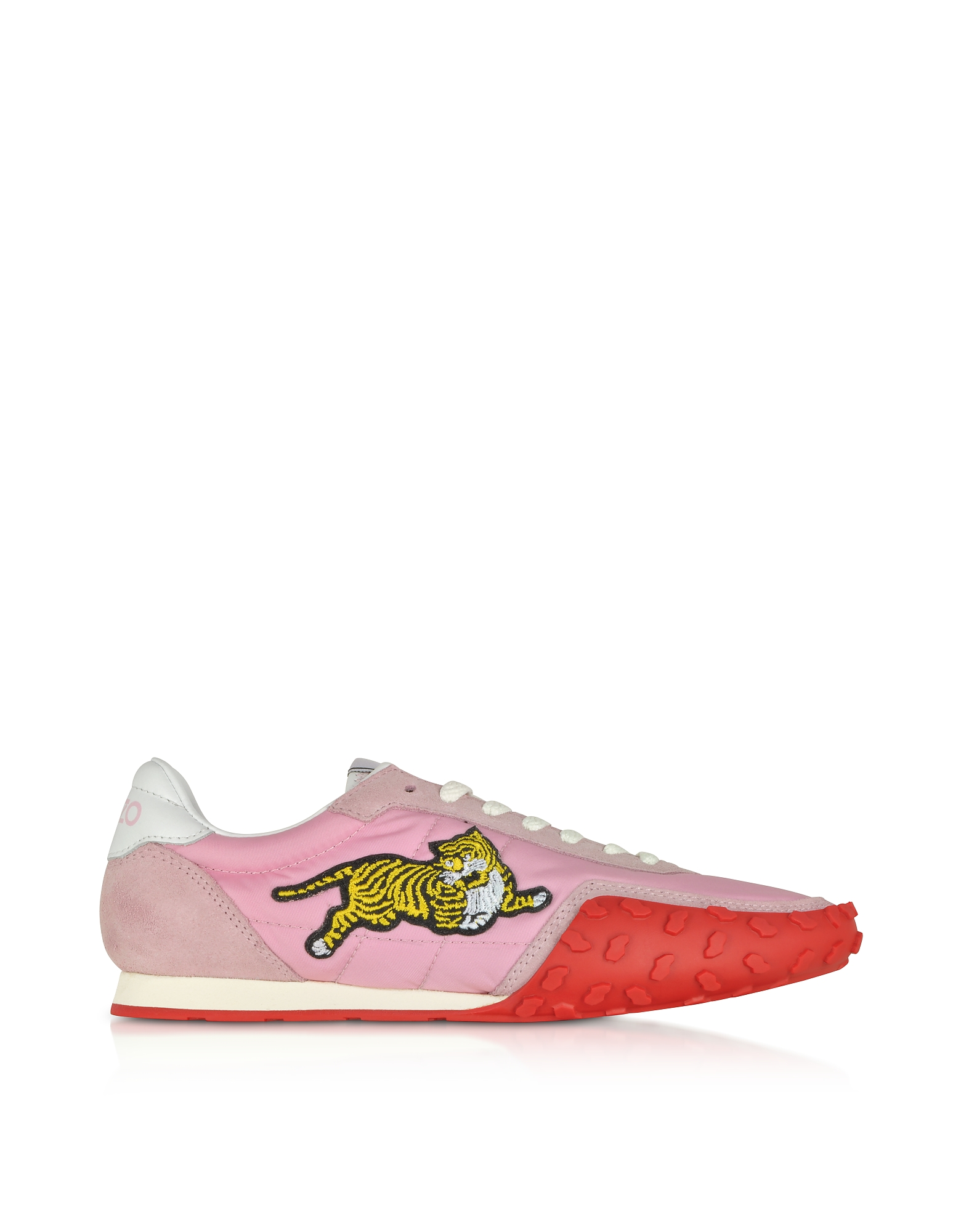Kenzo Designer Shoes, Pastel Pink Nylon Kenzo Move Women's Sneakers