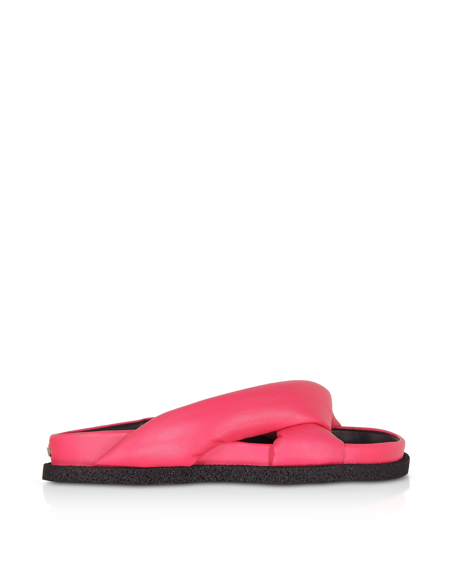 Kenzo Designer Shoes, Coral Nappa Leather Komfy Flat Mules
