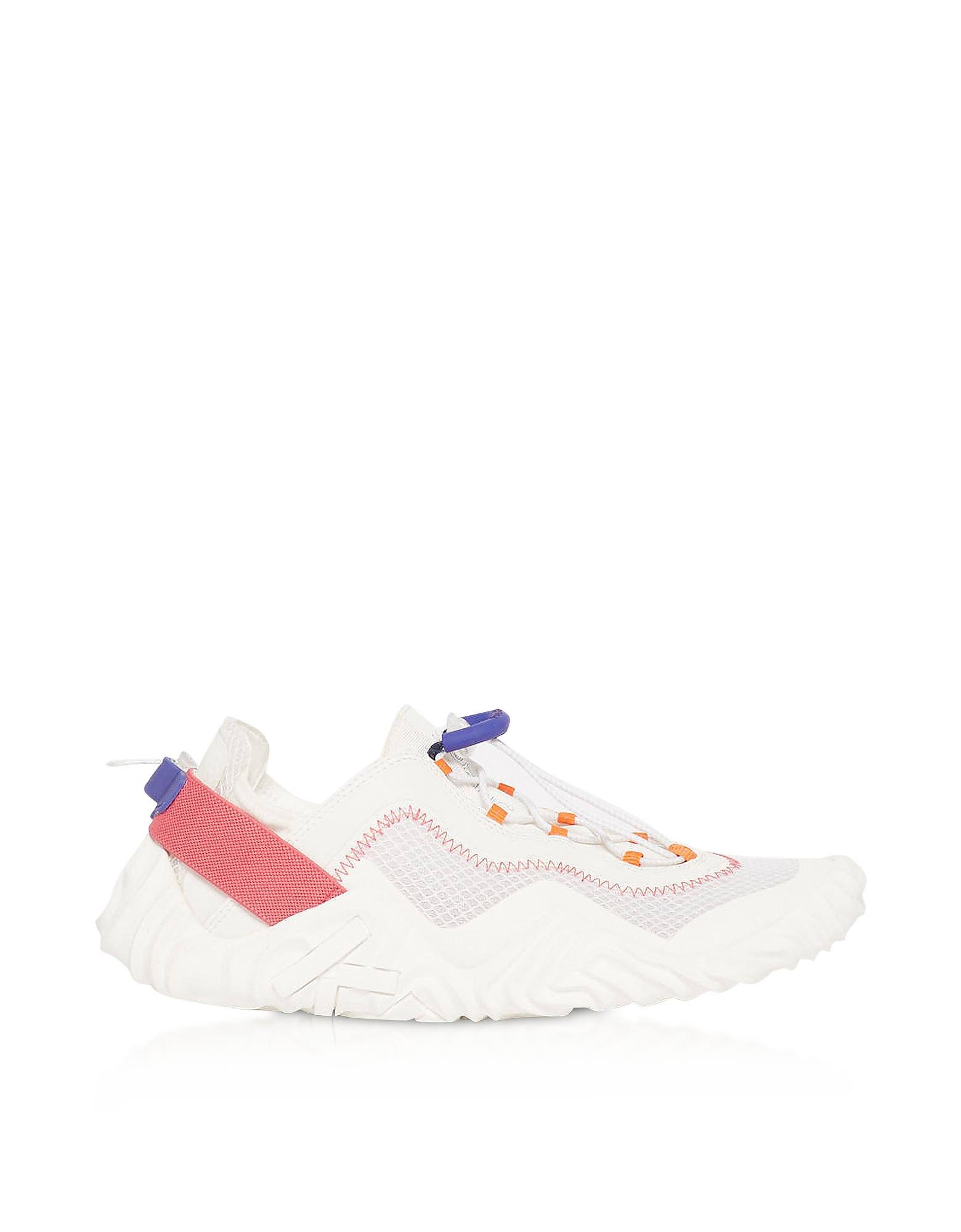 White Mesh Kenzo Wave Low Top Sneakers