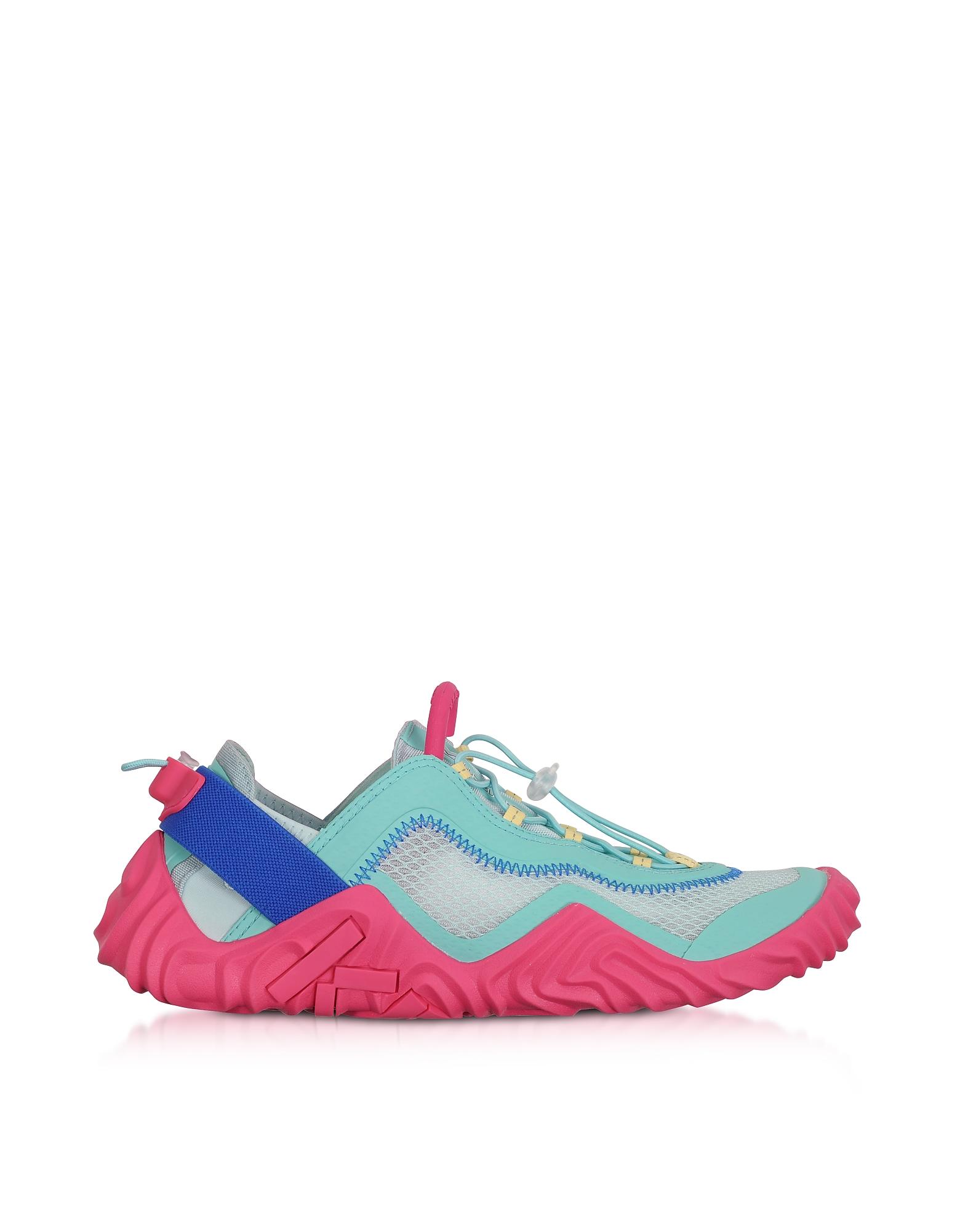 Kenzo Designer Shoes, Aqua Mesh Kenzo Wave Low Top Sneakers