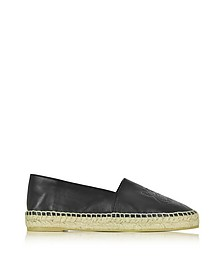 Black Leather Tiger Espadrille - Kenzo
