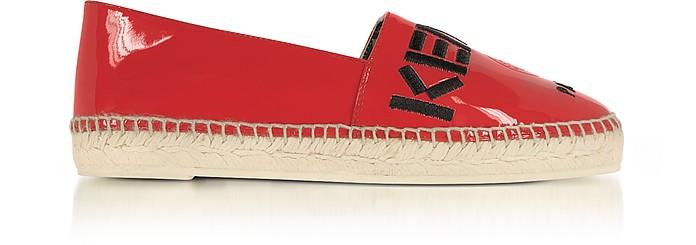 Kenzo Paris Red Patent Leather Espadrilles - Kenzo