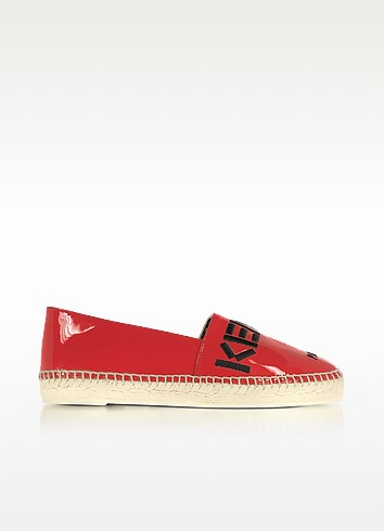 Kenzo Paris Red Patent Leather Espadrilles - Kenzo