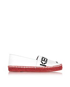 Kenzo Paris White Patent Leather Espadrilles w/Red Sole - Kenzo