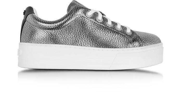 K-Lace Argent Leather Platform Sneaker - Kenzo