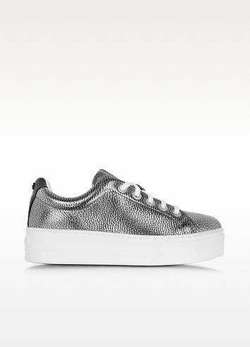 K-Lace Argent Leather Platform Sneaker - Kenzo